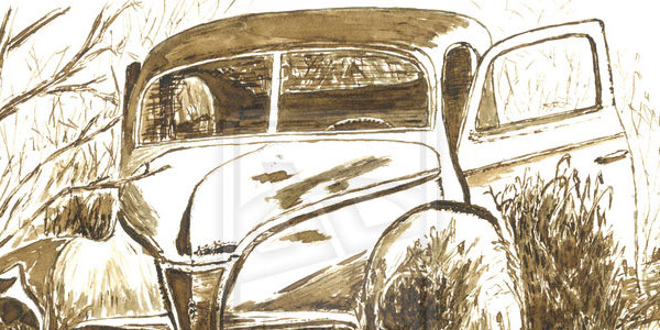 old car 50 Splendid Pencil Drawings