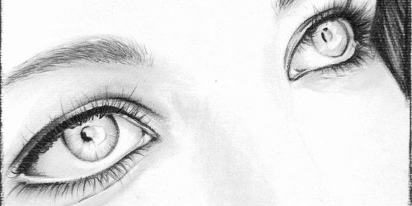 pencil drawing of a pencil. eyes pencil drawing of a