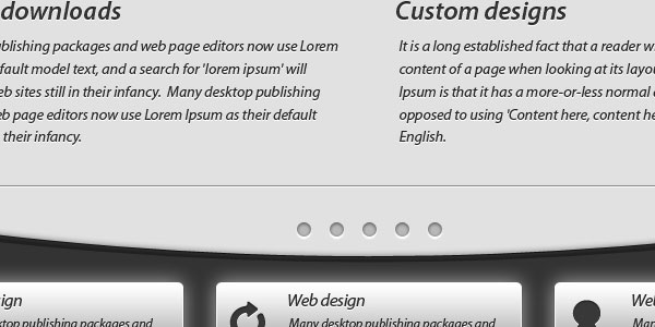 How to create a advanced dark web layout