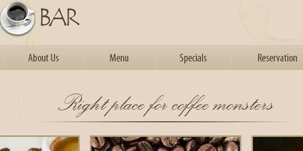 Creating Template For A Coffee Bar Or Restaurant