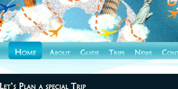 Travel Agency layout – CSS/HTML available