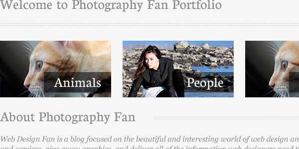 Create a Photography Portfolio Website Design