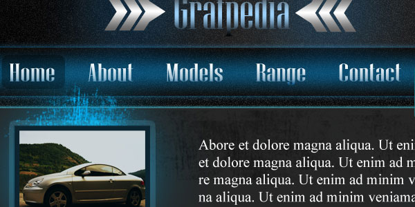 Learn how to create a Sports Car layout in Photoshop