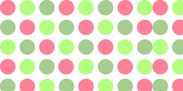 Pink and green polka dot background