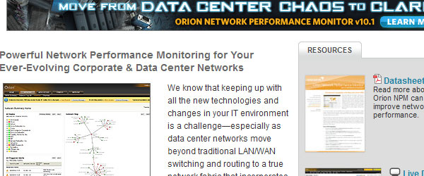 orion 15 Server Monitoring Tools