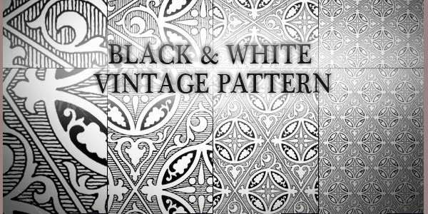 black and white patterns backgrounds. Black n White Vintage Pattern