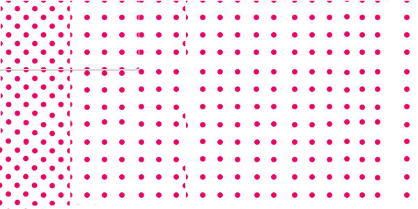 Polka Dot Pattern - pink white