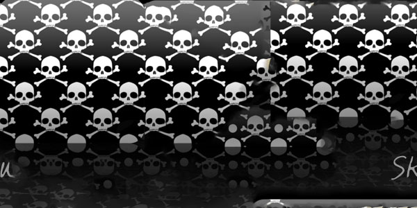 seamless skull 50 Cool White Backgrounds For Your Site