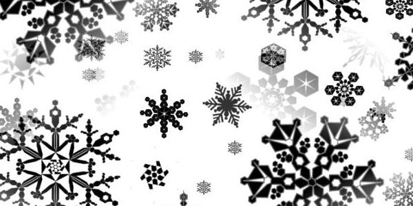 Snowflake Black And White Seamless Background Fill