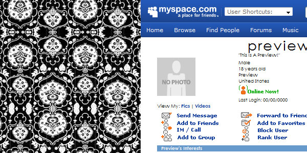 b n w my space vintage 70 Useful Black And White Backgrounds