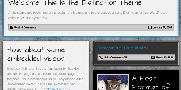 distinction 20 Free WordPress 3.0 Themes