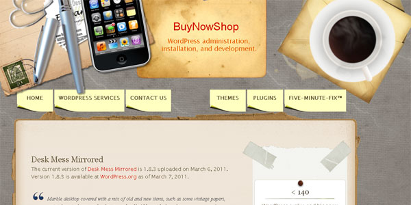 mirrored 20 Free WordPress 3.0 Themes