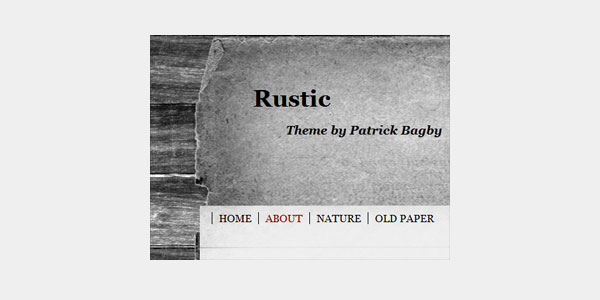 rustic 20 Free WordPress 3.0 Themes