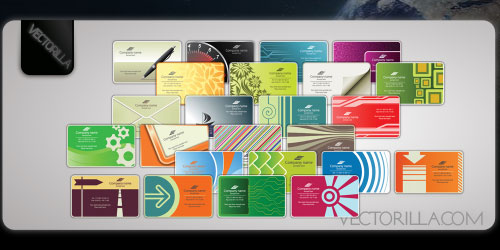 Free 24 vector business card templates