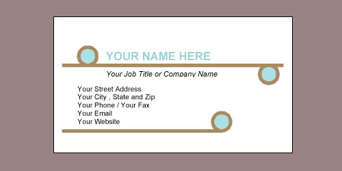 Attractive Balance Brown 10 Up Business Card Template  Name Card Format