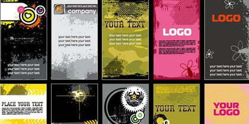 Grunge business card templates