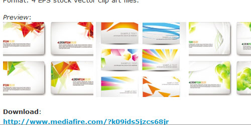 Business cards designs vector