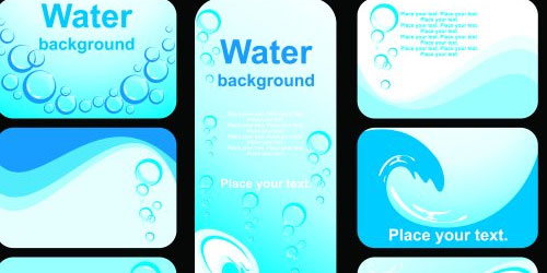 Water business card templates