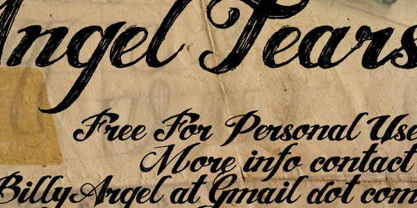 angel tears 50 Free Cool Fonts You Could Use