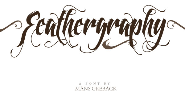feathergraphy decoration 50 Free Cool Fonts You Could Use