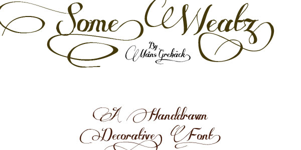 some weatz 50 Free Cool Fonts You Could Use