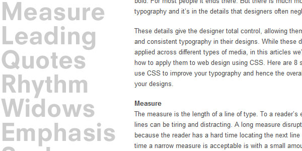 8 ways to improve your typography 30 Useful CSS Typography Tricks