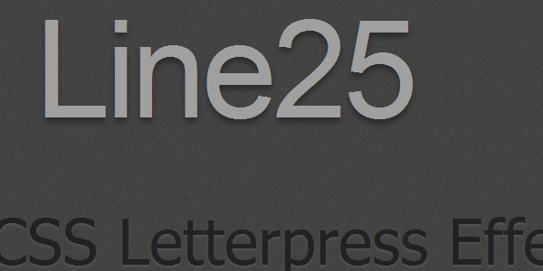 letterpress effect with css text shadow 30 Useful CSS Typography Tricks