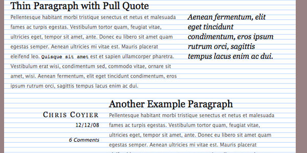 typographic grid 30 Useful CSS Typography Tricks
