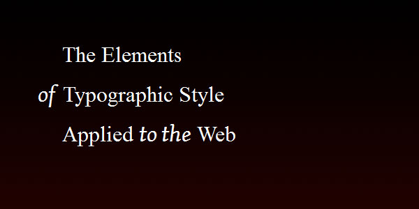 webtypography 30 Useful CSS Typography Tricks
