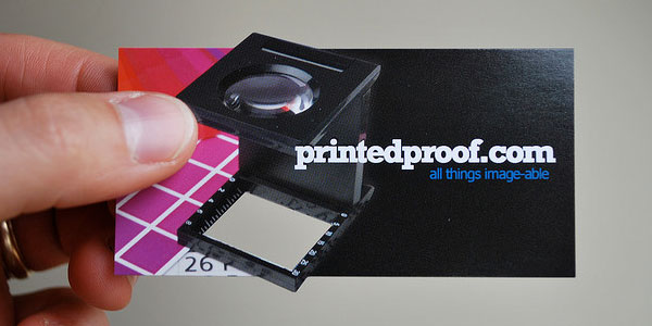 New Die Cut Business Card