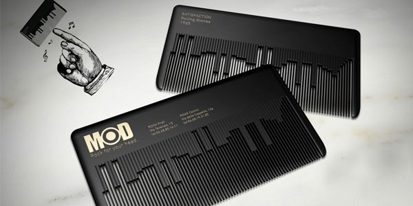 comb card 30 Killer Die Cut Business Cards