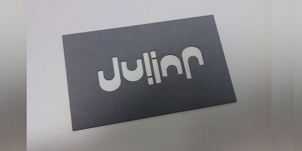 julian 30 Killer Die Cut Business Cards