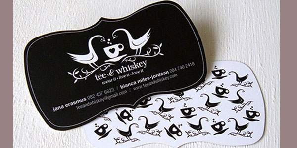 tee card 30 Killer Die Cut Business Cards