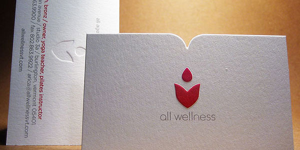 wellness card 30 Killer Die Cut Business Cards