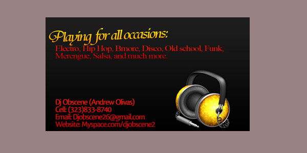 black dj business card 25 Groovy DJ Business Cards