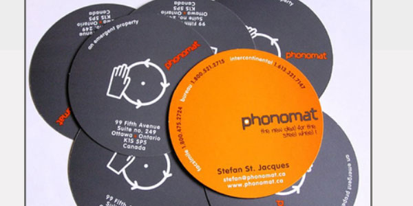 cd type dj business card 25 Groovy DJ Business Cards