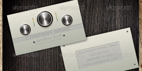 dj business card template 25 Groovy DJ Business Cards