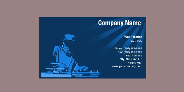 dj business card 25 Groovy DJ Business Cards