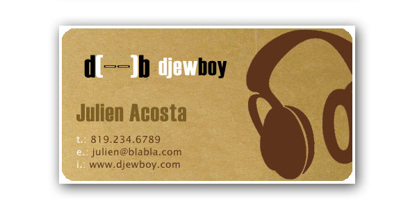 dj card 25 Groovy DJ Business Cards