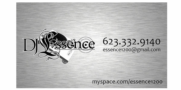 dj essence 25 Groovy DJ Business Cards
