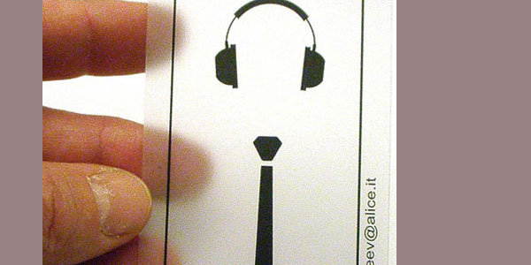 dj tie business card 25 Groovy DJ Business Cards
