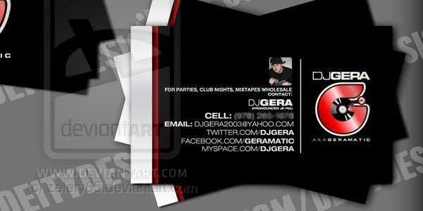 dj visiting card 25 Groovy DJ Business Cards