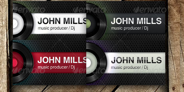 music producer dj 25 Groovy DJ Business Cards