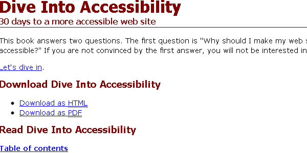 diveintoaccessibility 10 Free Ebooks Every Web Developer Should Have