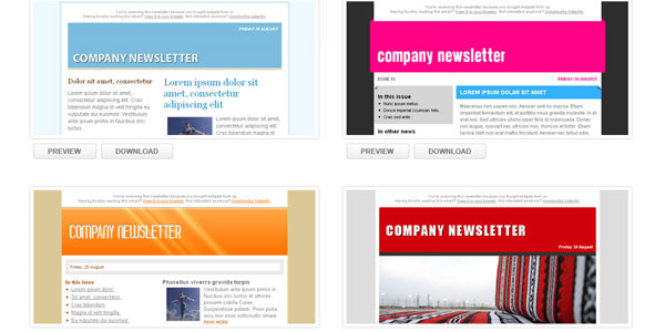 Email Newsletter Templates All In One Collection – Free Email Newsletter Templates Word