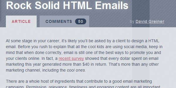 Rock Solid HTML Emails