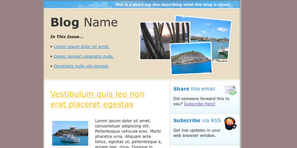 blog email html template Free HTML Email Templates