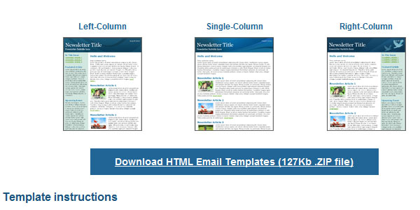 25 Completely Free HTML Email Templates
