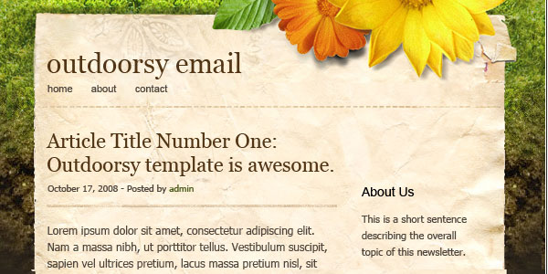 2 New HTML Email Templates