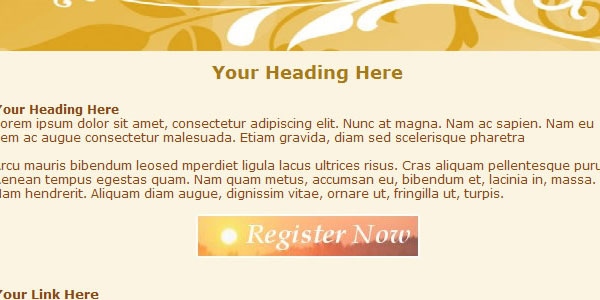 new email html template Free HTML Email Templates